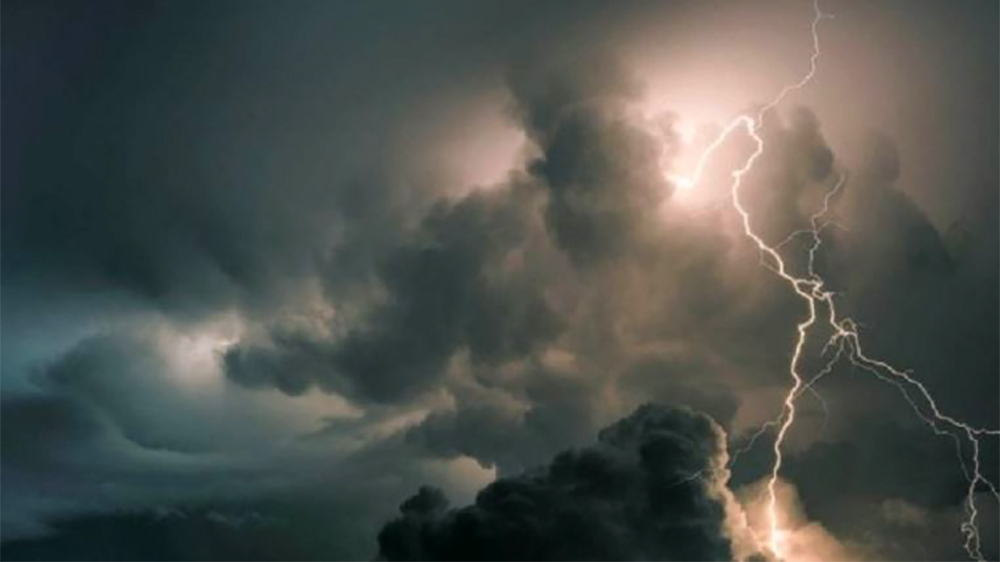 Lightning strikes in Kathmandu, affecting people's lives