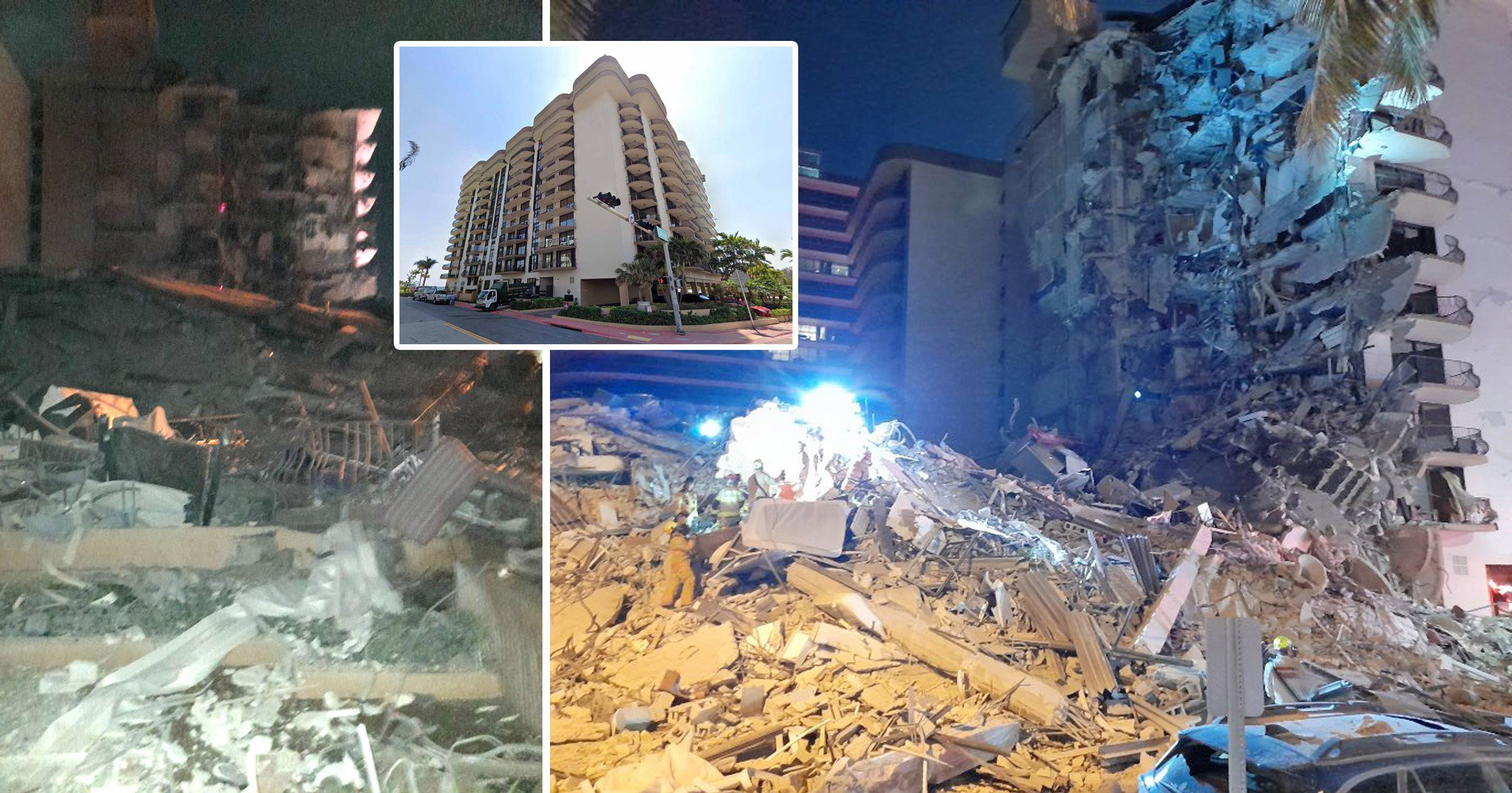 Huge emergency operation under way after building collapse in Miami