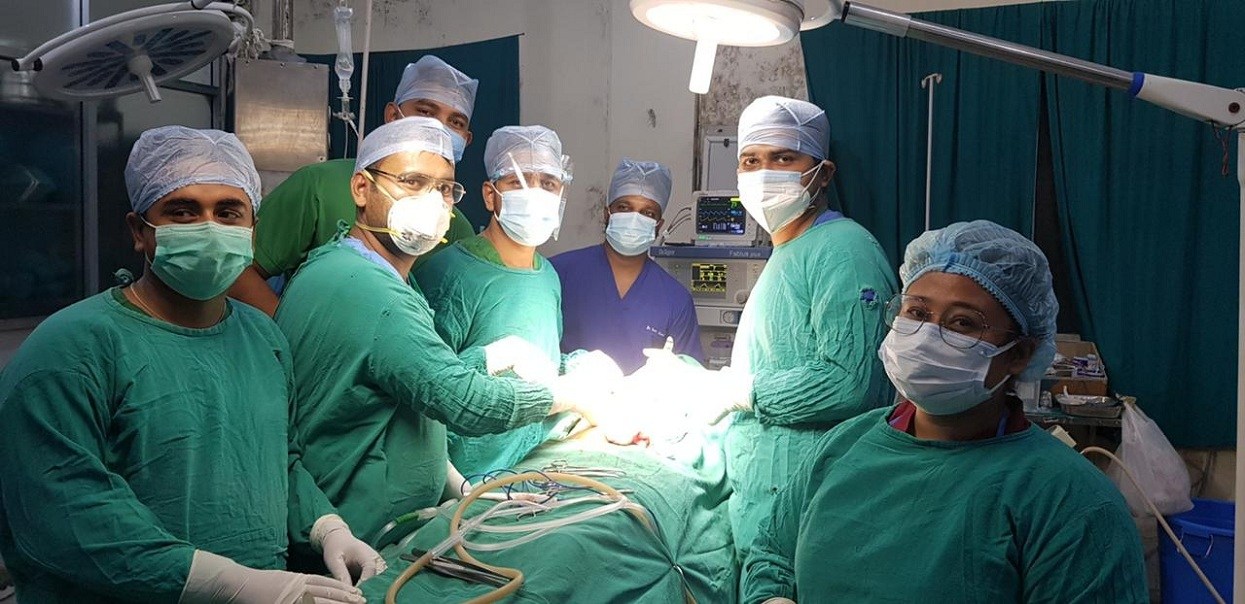 Nobel Hospital surgically removed the 'brush' from the abdomen