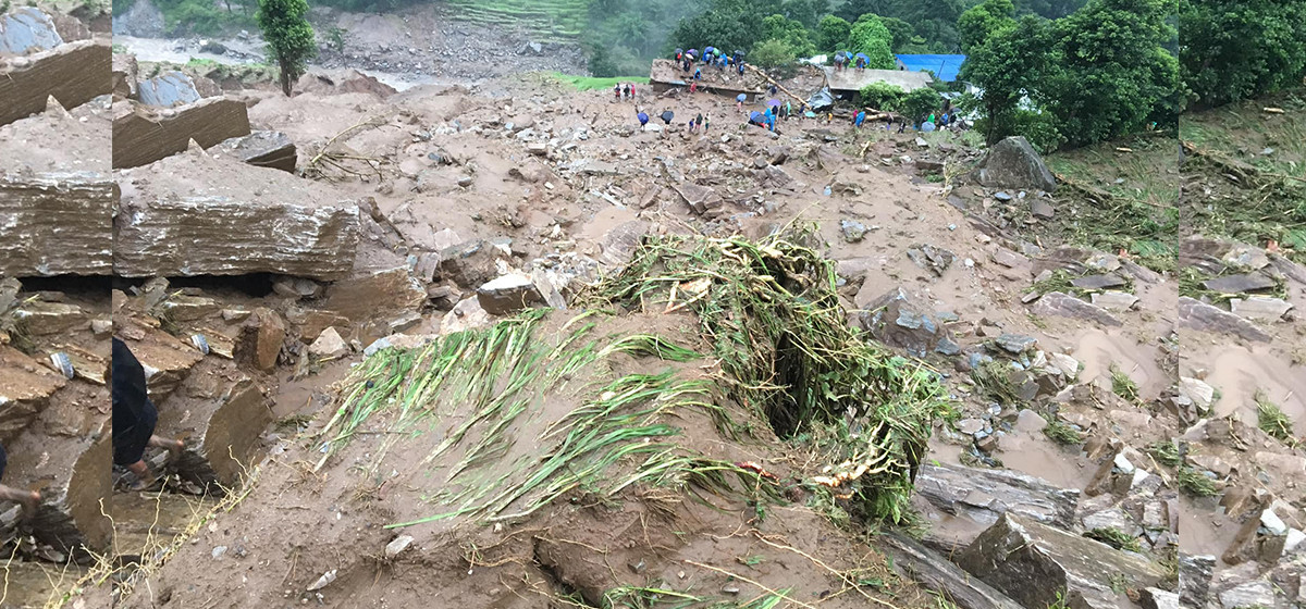 Eight household displaced by landslides