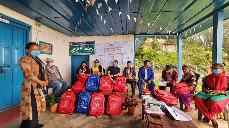 Stationeries and art materials to deaf school children in Bhojpur