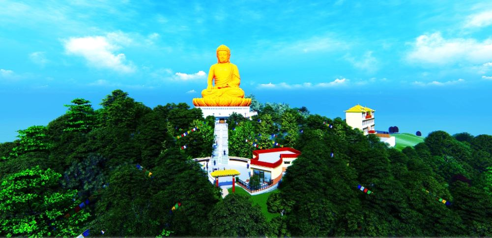 Buddha statue and park at a cost of Rs 1.14 billion
