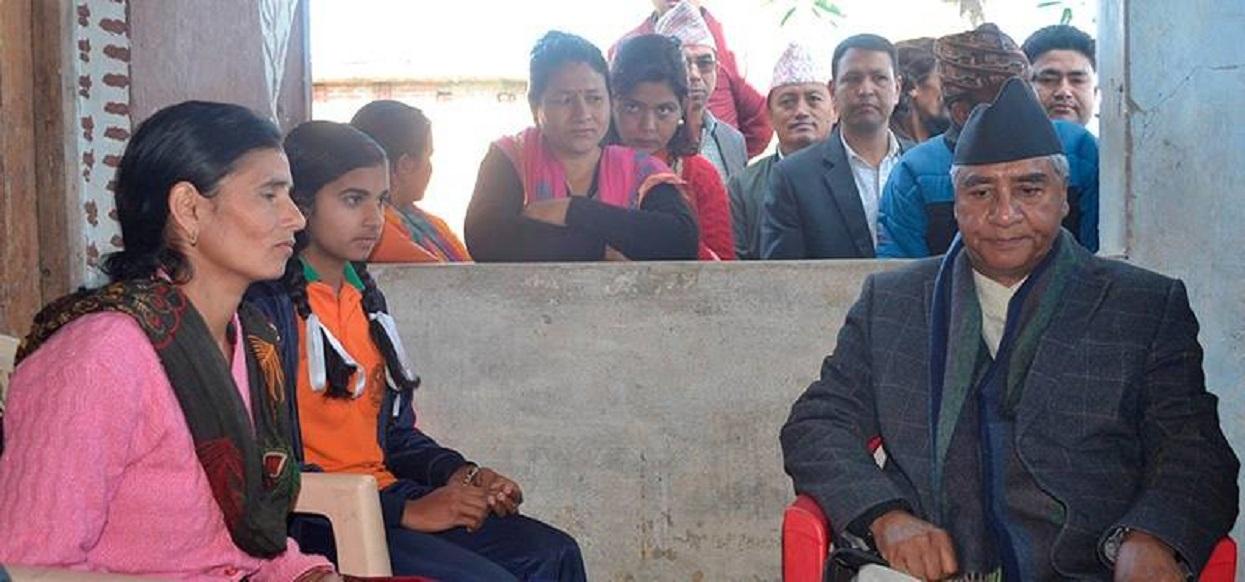 Submited a memorandum to Prime Minister Deuba seeking justice
