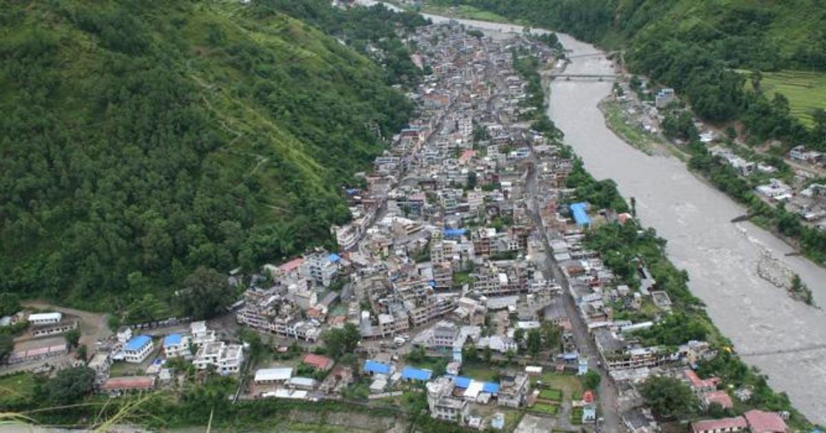 Human settlements near Karnali River at high risk of flood and landslide
