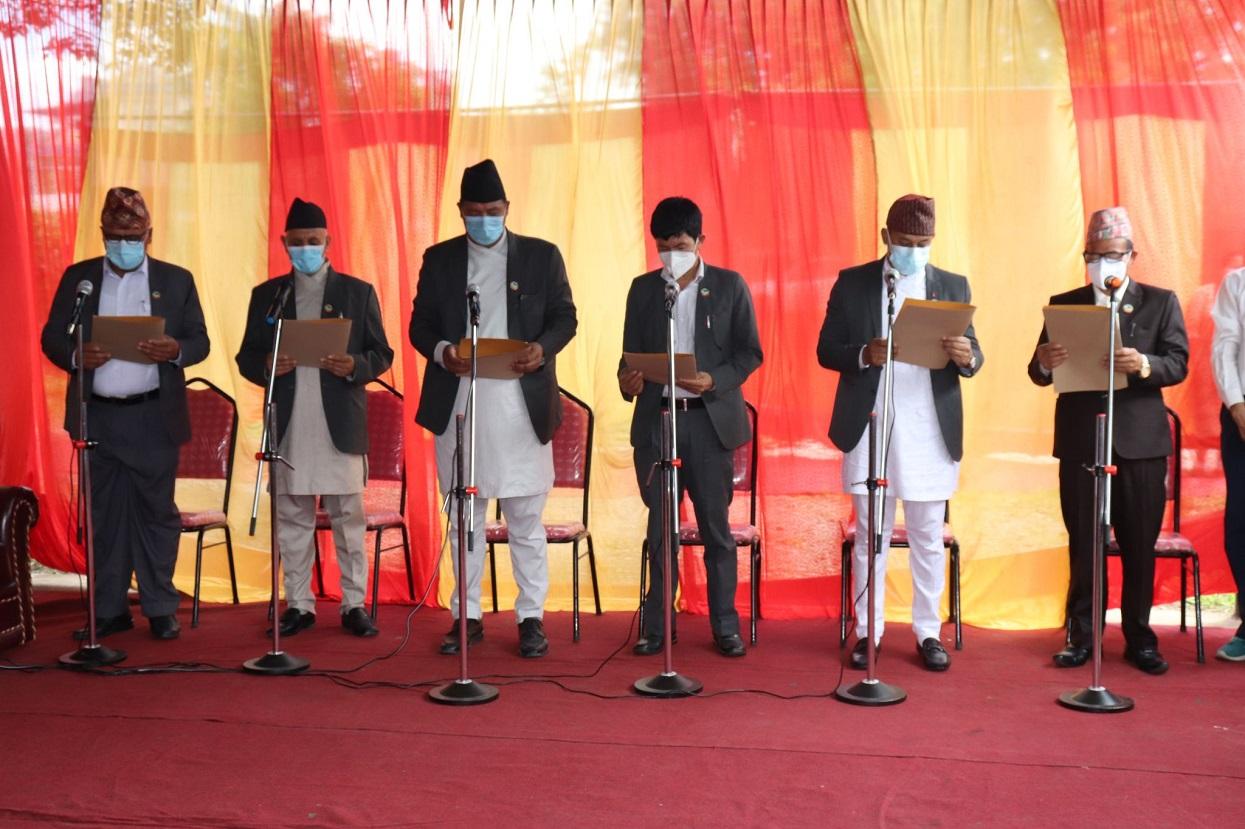 Six ministers take oath in Gandaki