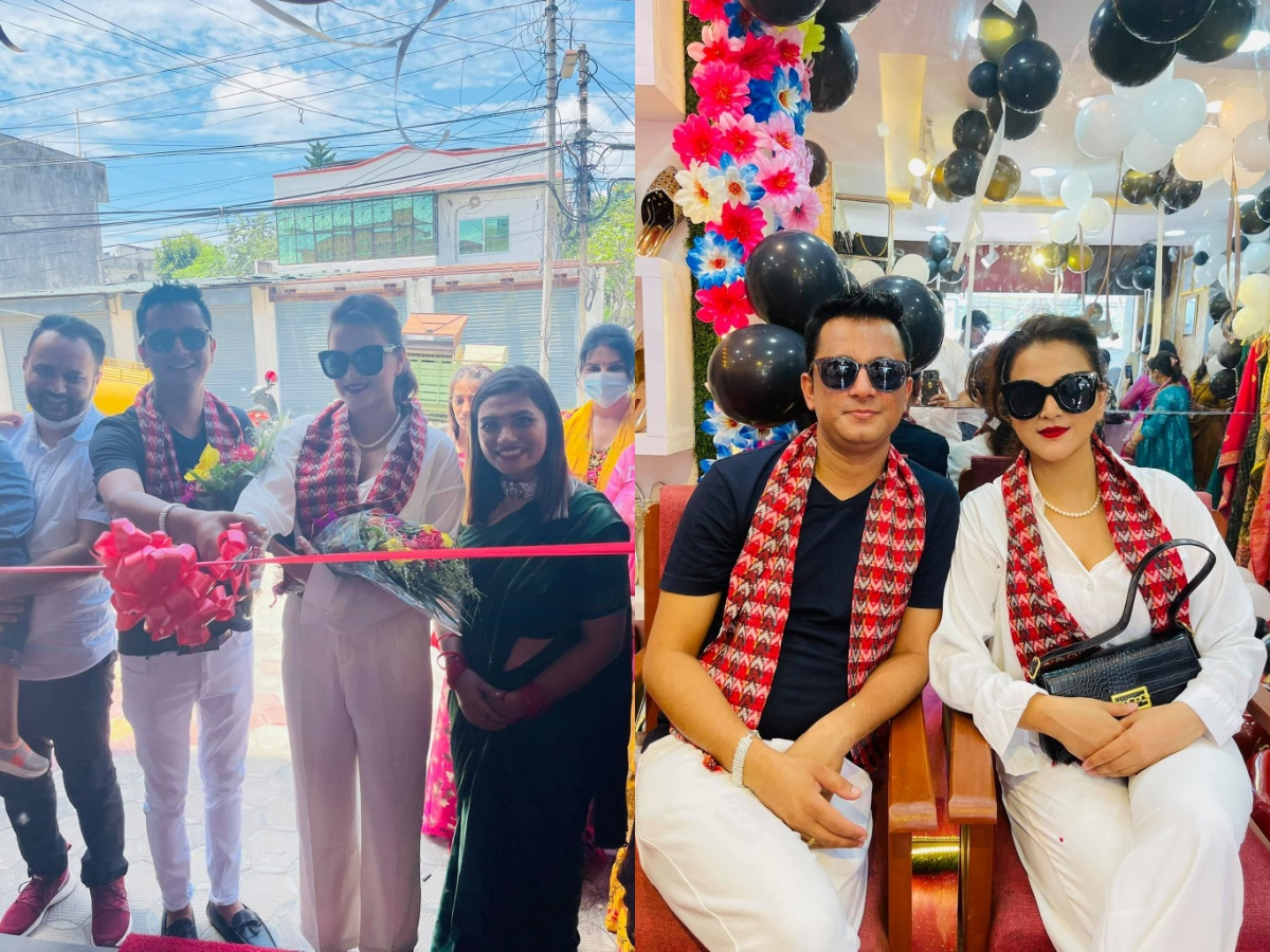 Boutique inauguration by Diwakar and Deepika