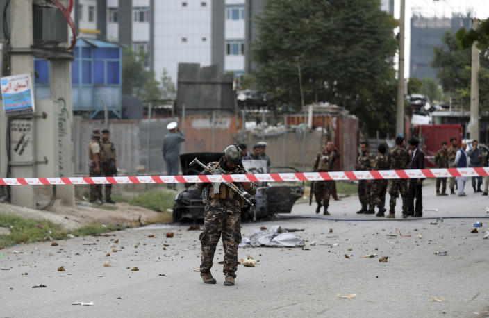 Rockets fired on Afghanistan's presidential palace, failing to hit target: official