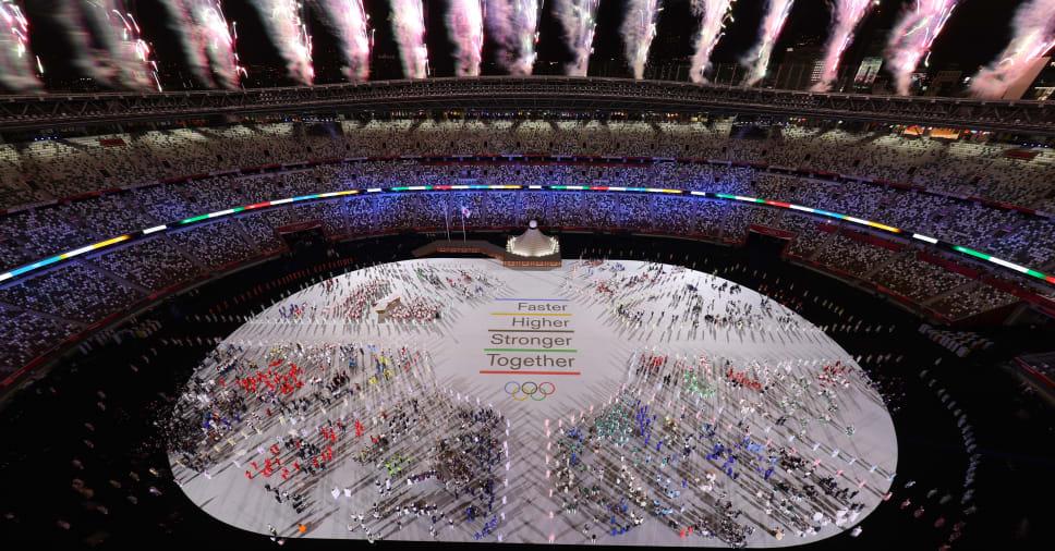 Tokyo Olympics Opening: March Pass in empty stadium