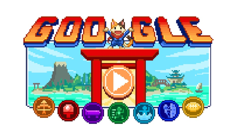 Google Doodle honours the Tokyo Olympics by featuring the Champion Island games.