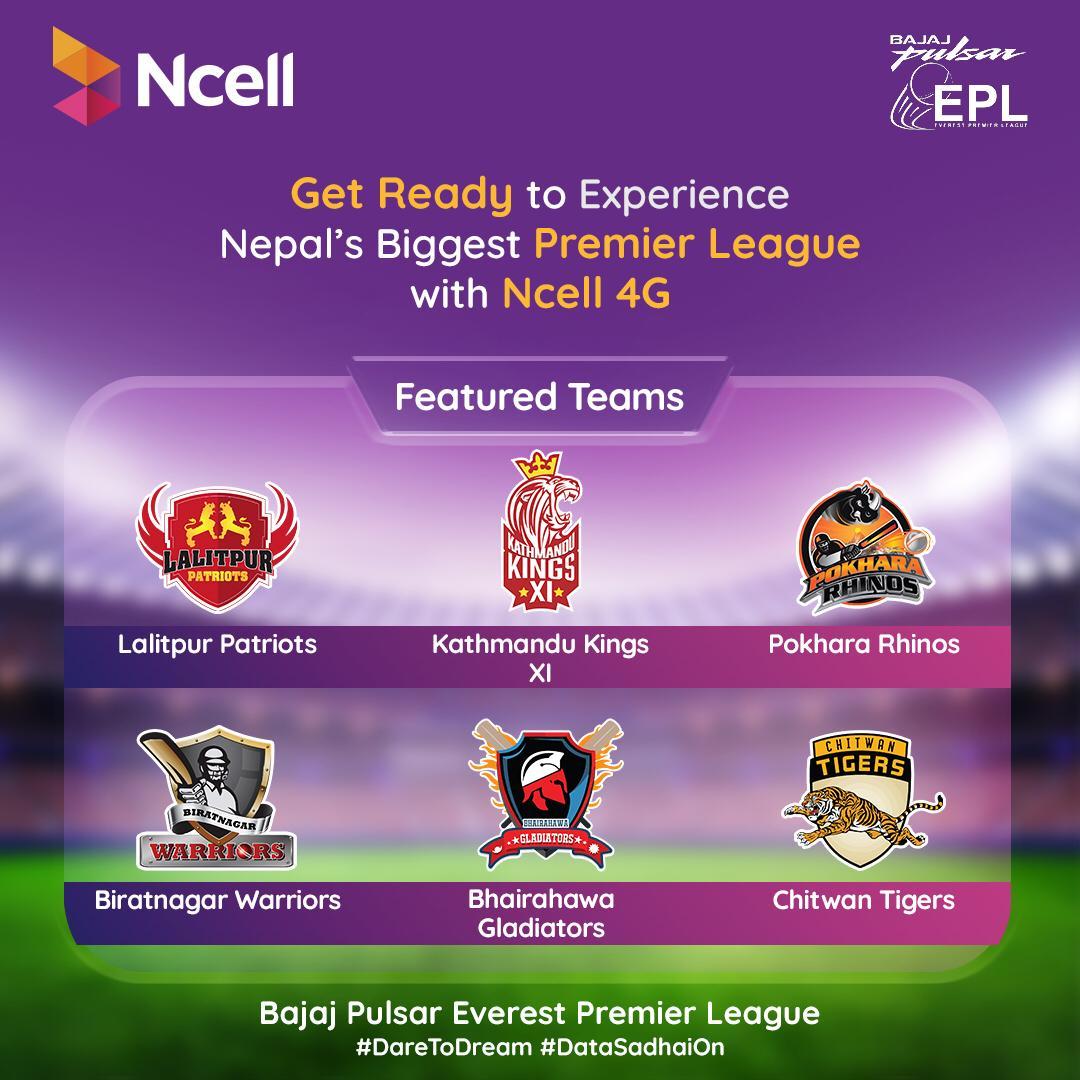 Bajaj Pulsar Everest Premier League with Ncell 4G