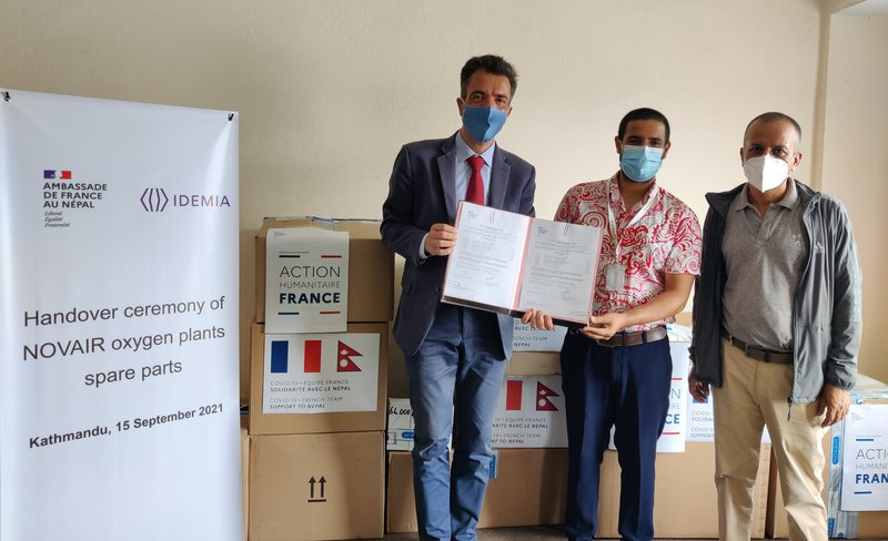 France And IDEMIA Donate Several Spare Parts For The French Oxygen Plants Manufactured by NOVAIR