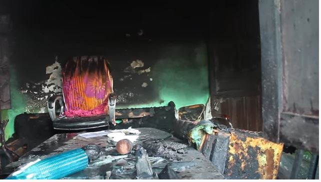 The man fled after setting fire to the ward office, the mayor appealed to the police