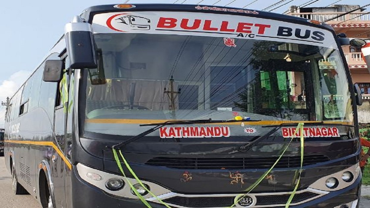 Biratnagar-Kathmandu 'Bullet AC' bus in operation