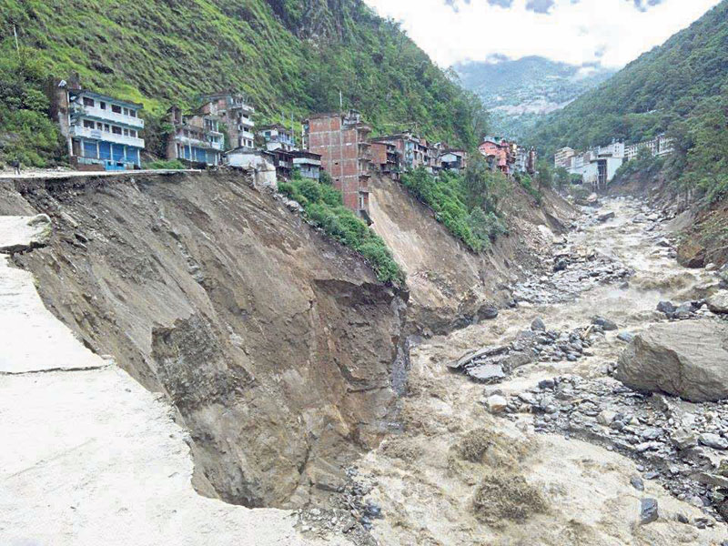 The hill of Helambu continue to slide down