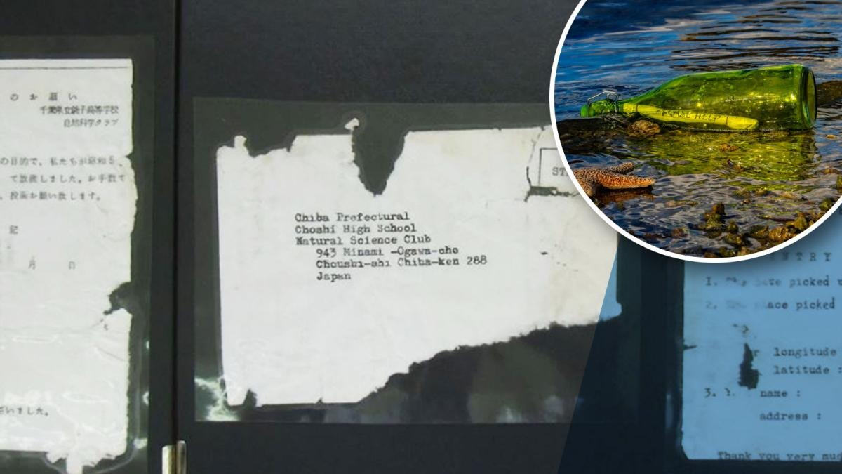 Japan message in a bottle washes up in Hawaii … 37 years later
