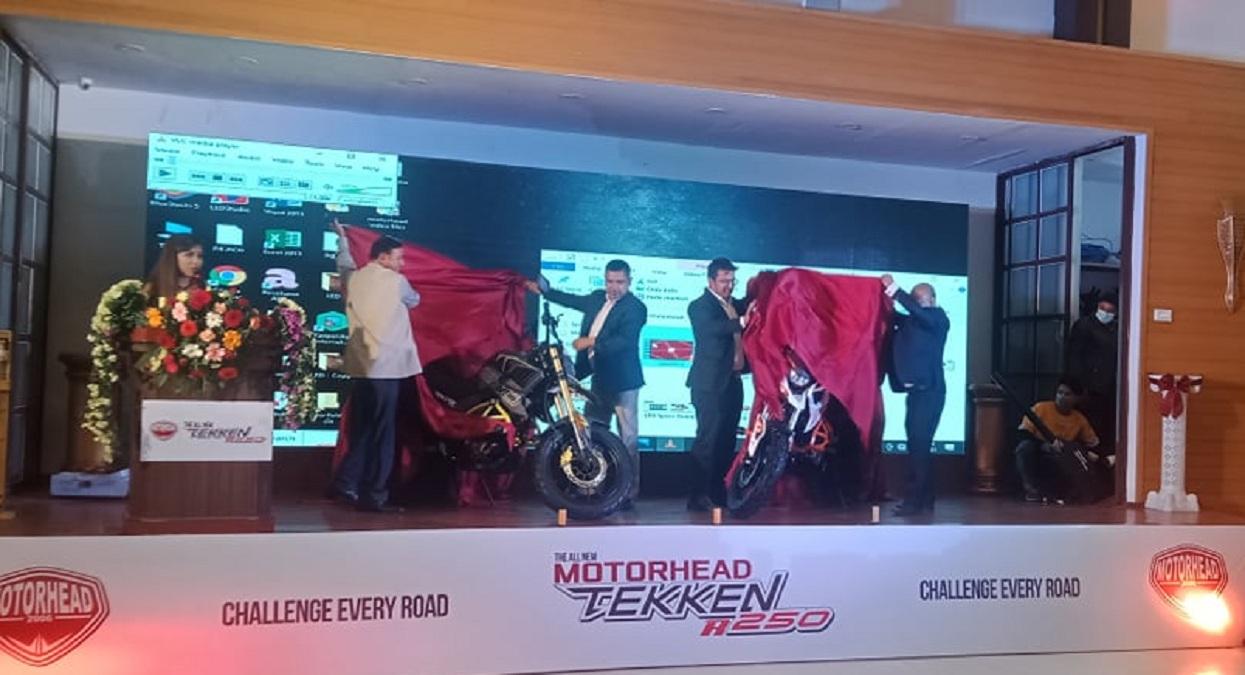Motorhead's 'Tekken R 250' motorcycle in Nepali market