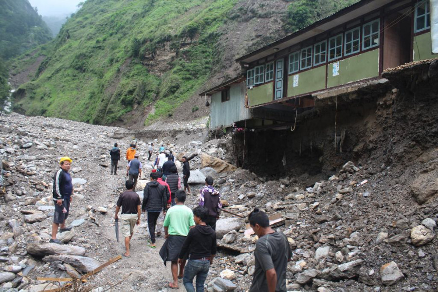 Facing hardship in makeshift huts, Sindhupalchowk flood victims returning to their damaged houses