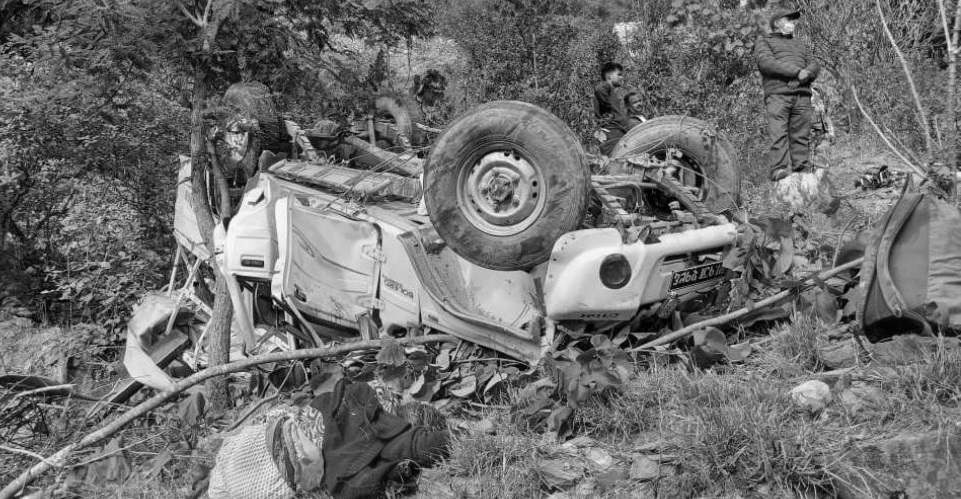 Jeep accident in Gulmi: 3 killed, 6 injured