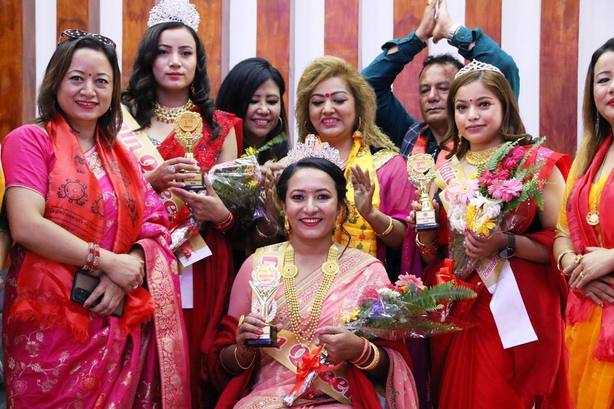 Anju Budhathoki became the winner of the Dashain Queen-2078