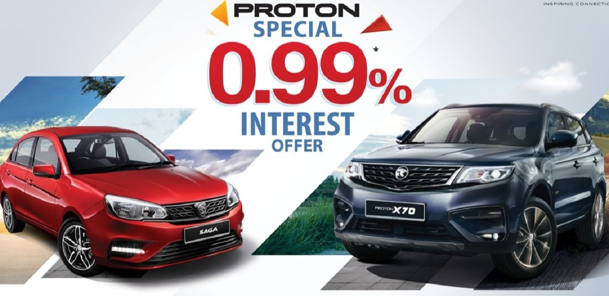 Get a Proton car at an interest rate of less than one percent